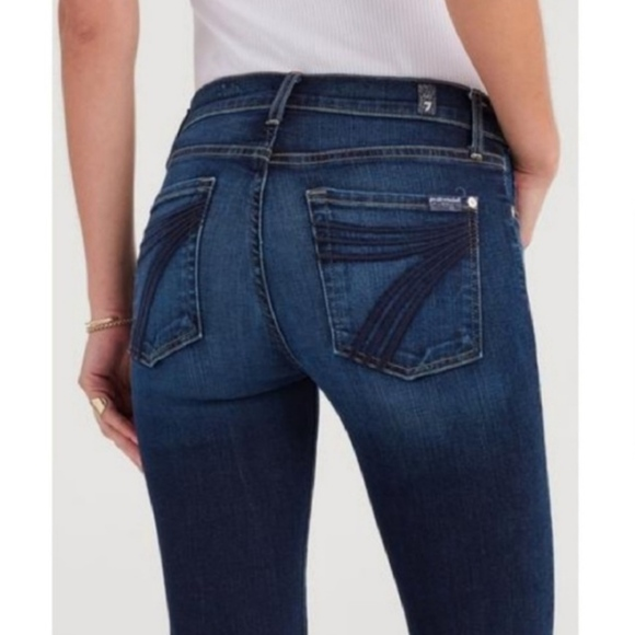 7 For All Mankind Denim - 7 for all mankind | dojo flare midrise jeans sz 28